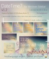DateTime7 v1.2 -Windows gadget by Franchu