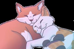 RuffledScorch Snuggles by DrowsyInsomnia