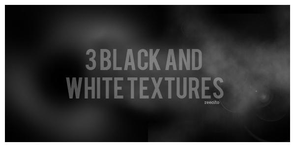 3 Black and White Textures by reecito
