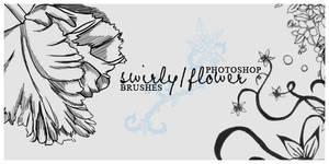 Swirly-Flower Brushes by reecito