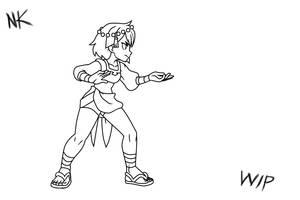 Ajna Kick Rough Test Animation by TheGraffitiSoul