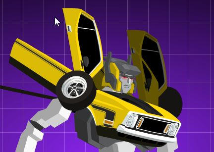 Transformer Muscle Car Animation
