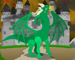 Castle and Dragon Animation by GabrielChoquette