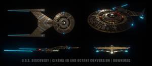 USS Discovery C4D Octane