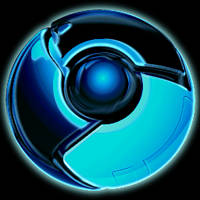 Chrome Icon Tron Style by Dementor314