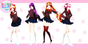 [MMDxDDLC]Doki Doki Literature Club+dl