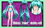 [MMD]TDA Miku hair edit+dl