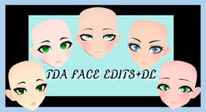 TDA face edits pack+dl