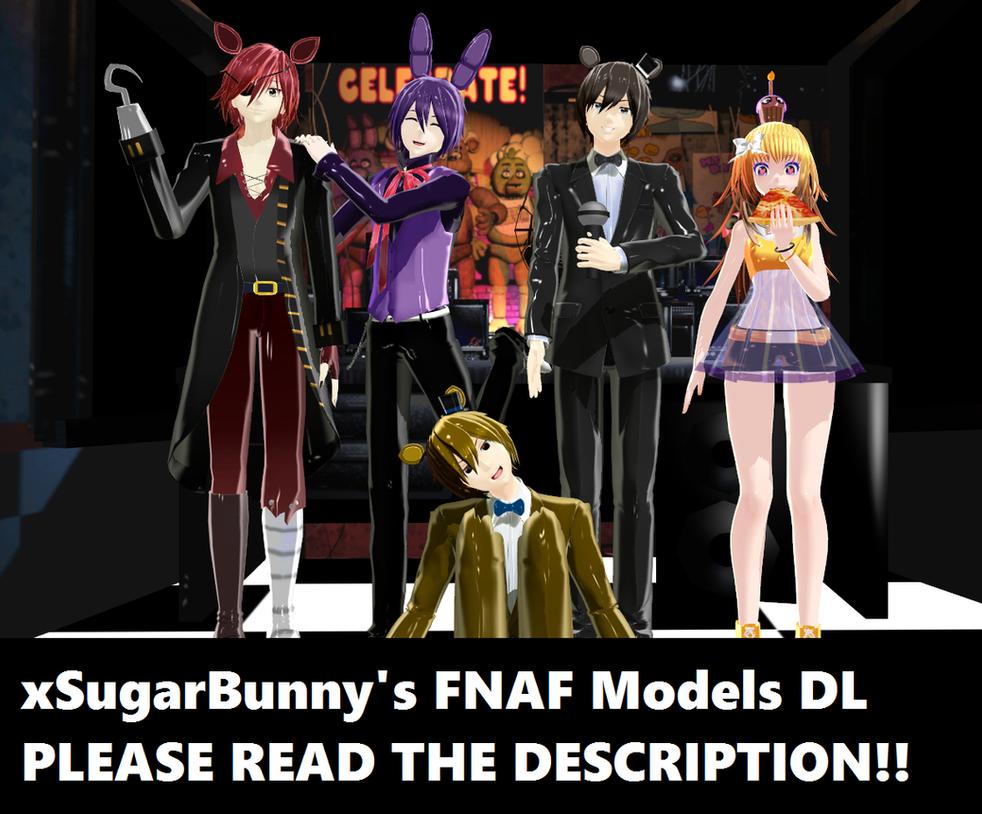 [MMD] xSugarBunny's FNAF Models DL by ZexionStrife
