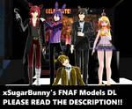 [MMD] xSugarBunny's FNAF Models DL