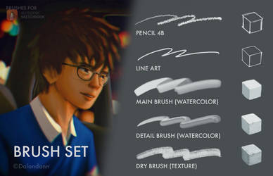 Dalandann's Main Brush Set by Dalandann23