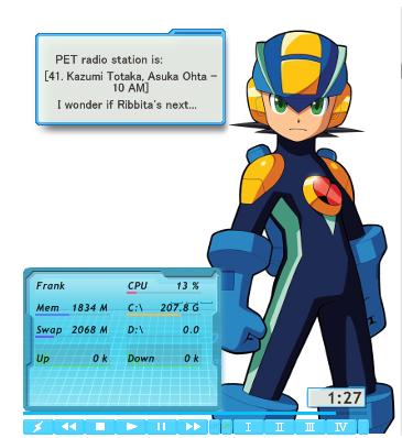 MegaMan EXE Rainmeter Skin by DSz