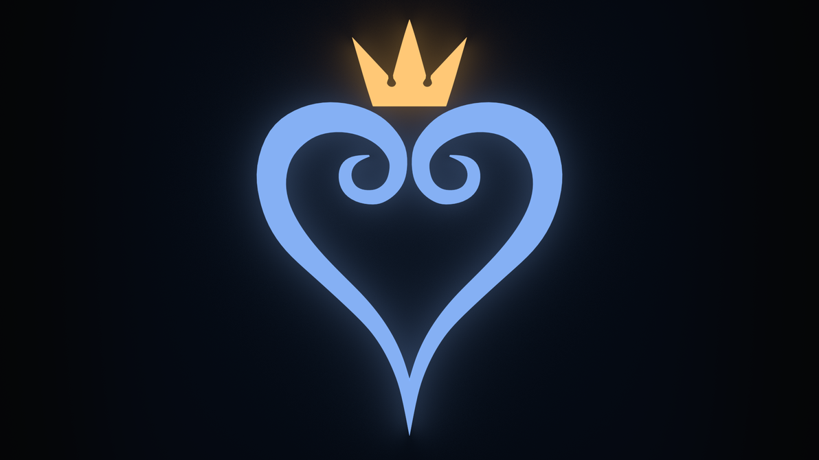 kingdom hearts logo wallpaper by abluescarab on deviantart