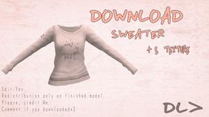 [MMD] Sweater [Doownload] by Dastezi