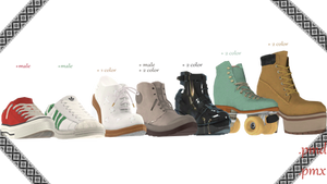 |MMD|Shoes pack convert from Sims 3 Download