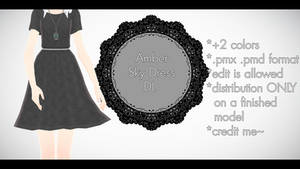 |MMD| Amber Sky Dress Download by Dastezi