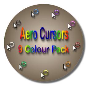 Aero Cursor Pack - 9 Colours by UkIntel