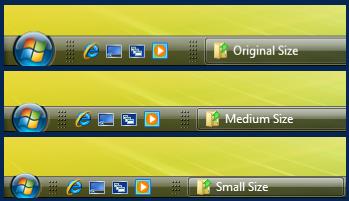 Thin Taskbar Mod - For Vista