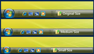 Thin Taskbar Mod - For Vista