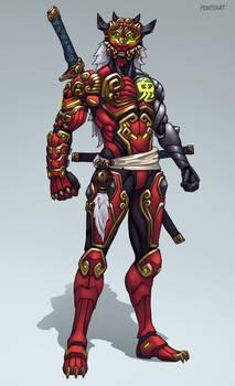 Overwatch skin idea: Oni Genji