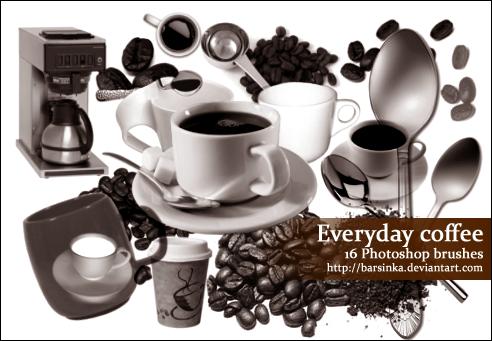 Everyday Coffee brushes by Barsinka