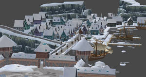 Frozen Free Fall Town