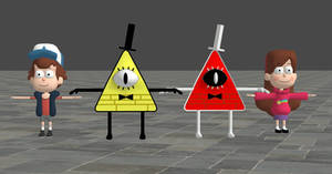 Gravity Falls Model Pack for XNALara