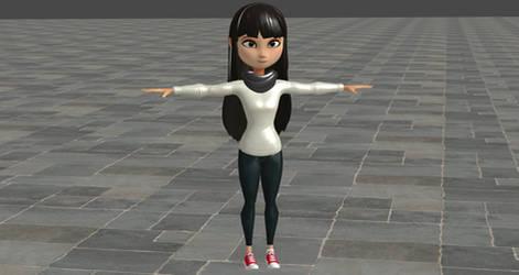 Emoji Movie Addie McAlister For XNALara by user619