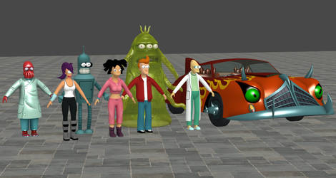 Futurama Model Pack For XNALara