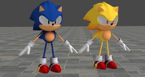Sonic Mania Adventures Sonic For XNALara