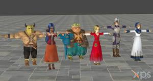 Dragon Quest Heroes Characters and NPCs ForXNALara