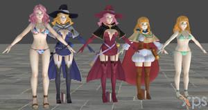 Black Clover Quartet Knights Model Pack ForXNALara