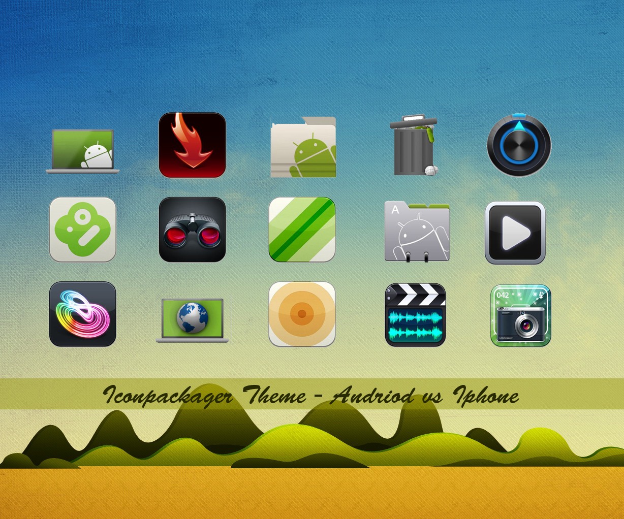 Andriod vs Iphone iconpackager