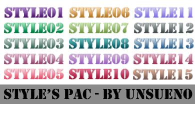 Style's Pac 1 - By unsueno by unsueno