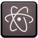 Atom Faenza icon (dark version) by chiefu