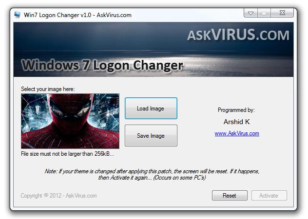 Windows 7 logon changer | Windows 7 Logon Changer  2019-03-26