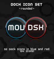 Dock Icon Set - rounded by dozy-de