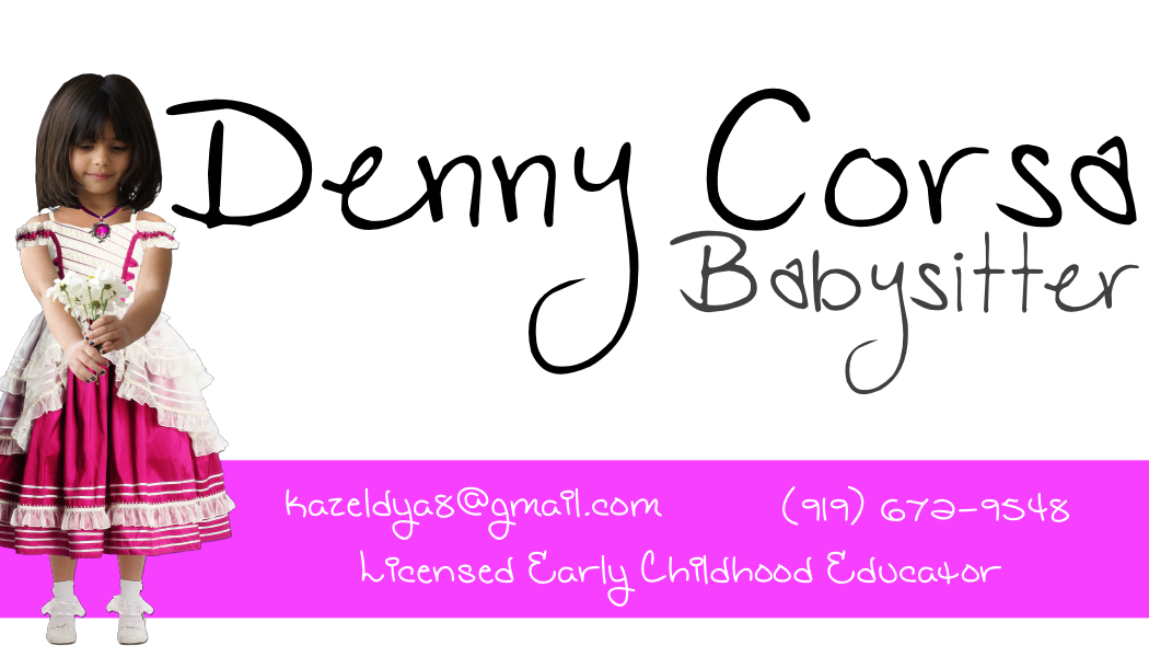 Babysitting Business Card 01 by theinfamousj on DeviantArt