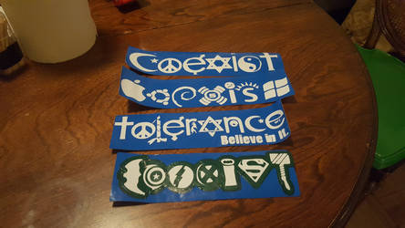 Coexist Bumper Stickers.mtc by theinfamousj