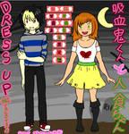 Dress Up Kyuketsuki-kun and Hitokui-chan!