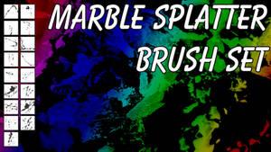 Photoshop Marble/Paint Splatter Brush Set