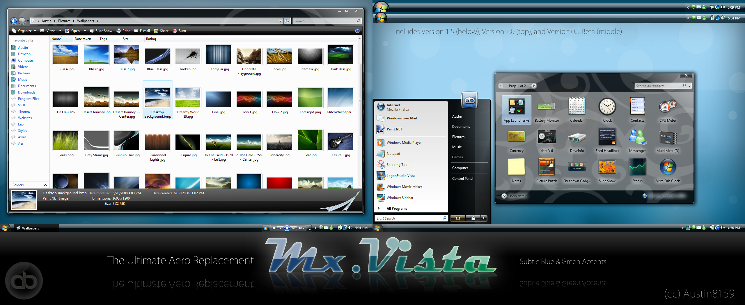 MX for Vista - 3 Visual Styles