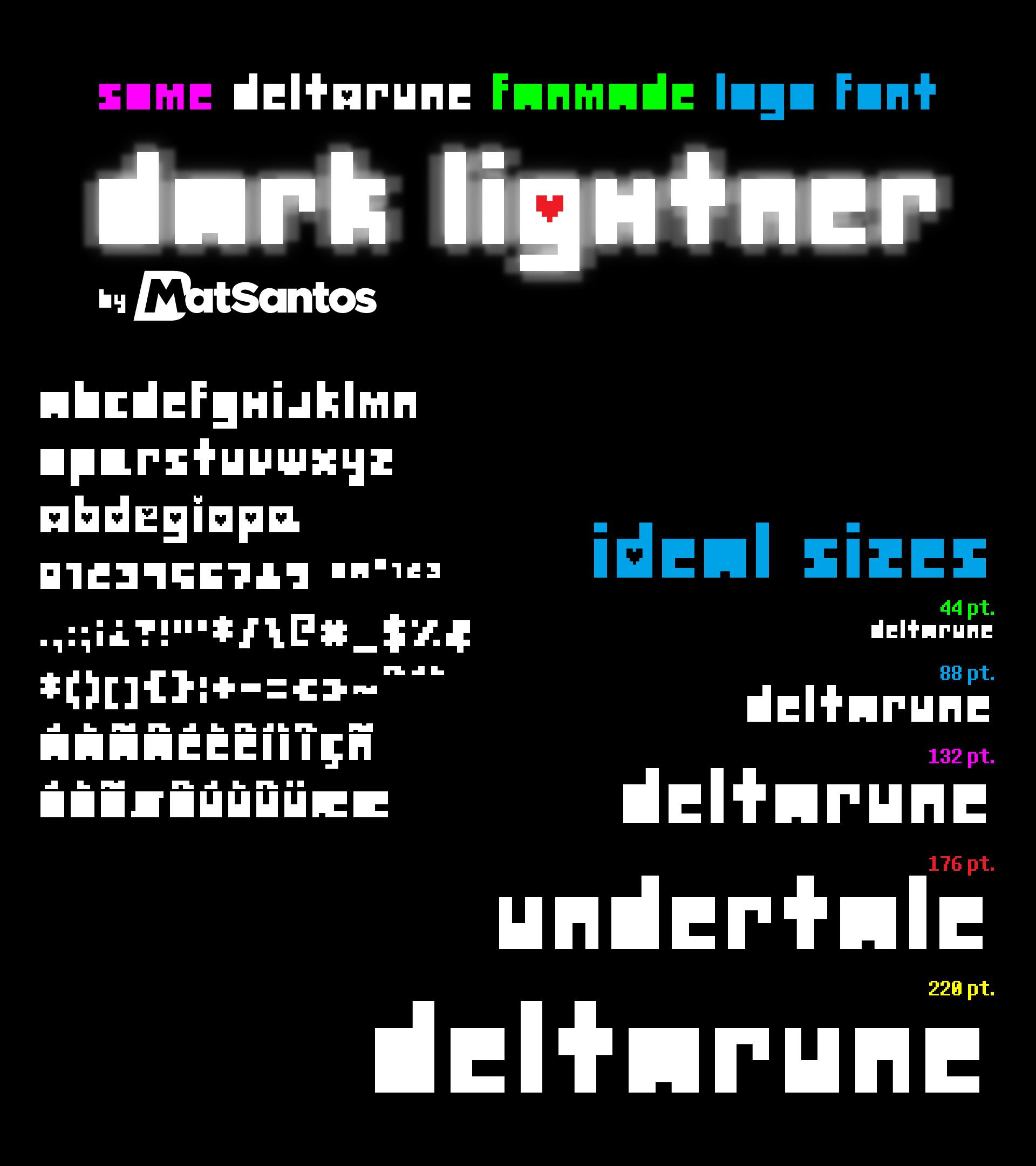Dark Lightner Deltarune Logo Font By Bmatsantos By Bmatsantos On Deviantart