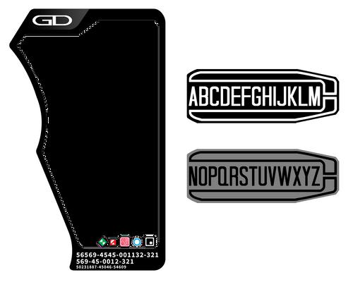 Ex-Aid - Standard Gashat Label Template