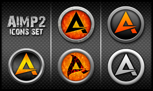 AIMP2 Icons Set by elddes