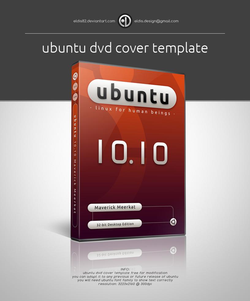 Ubuntu DVD Cover Template by EldiS82