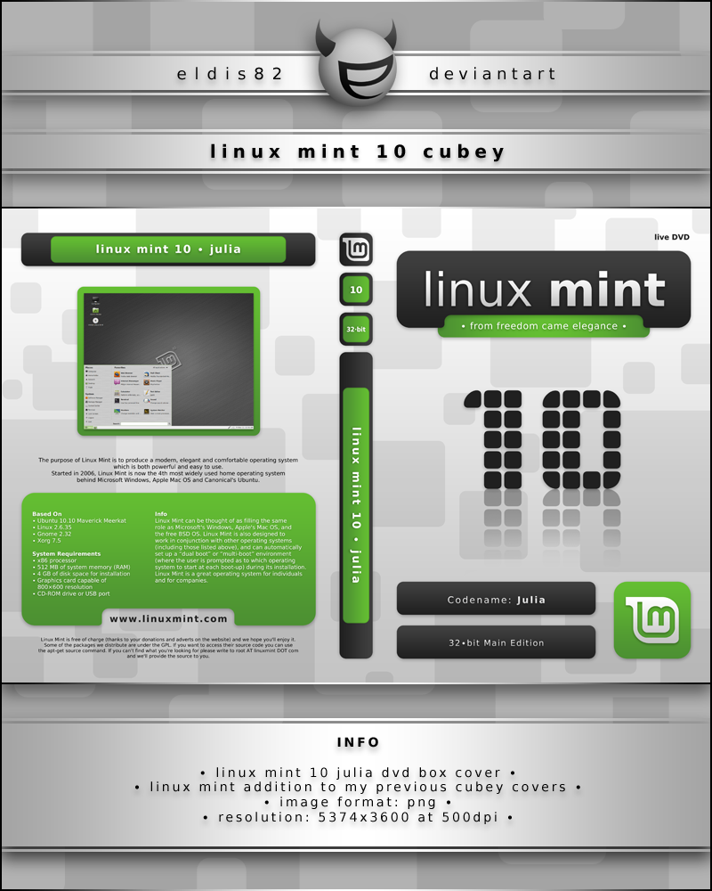 how to create a linux mint live cd