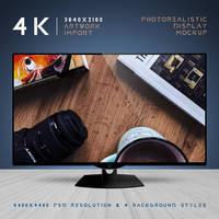 4K Display Mockup