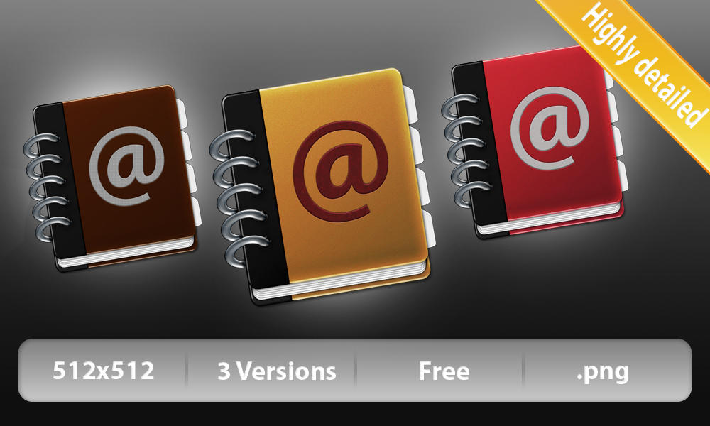 Adressbook Icon by Lukasiniho