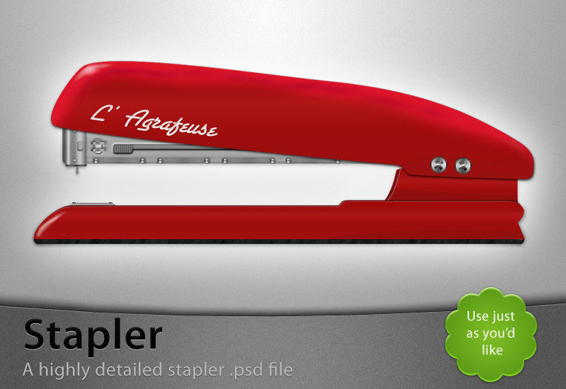 Stapler - Free psd-file by Lukasiniho